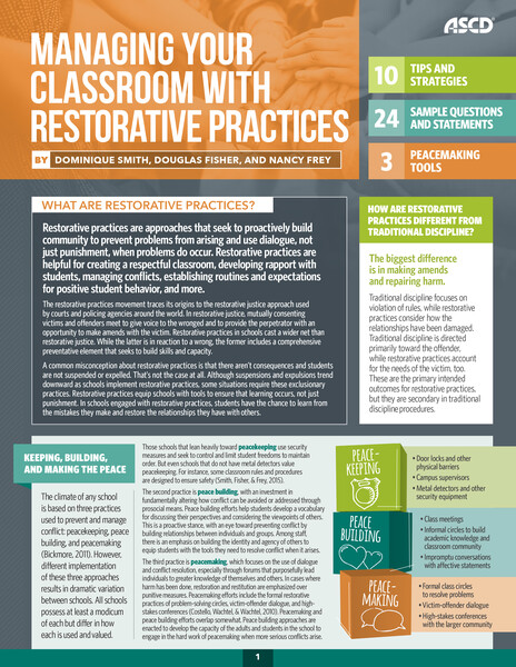 Book banner image for Managing Your Classroom with Restorative Practices