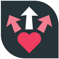Lead with passion icon